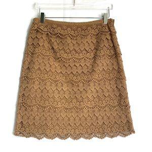 J. MCLAUGHLIN WOMEN'S Lace Skirt TAN  Caramel 8